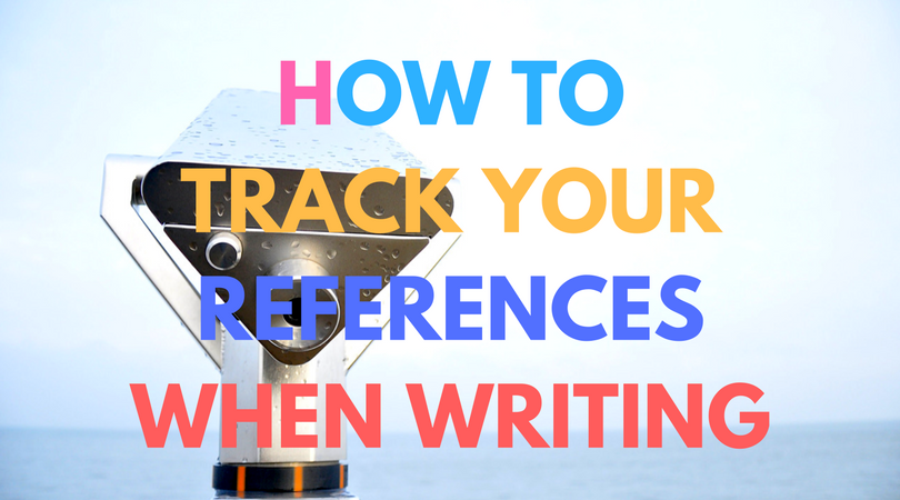 How to track your references when writing