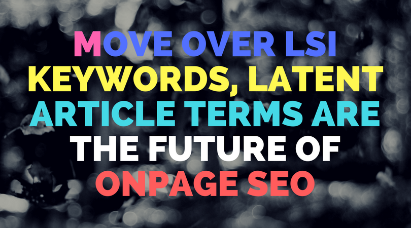 What is the difference between keywords & latent terms?