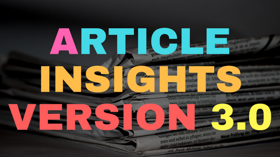 Article Insights Version 3.0