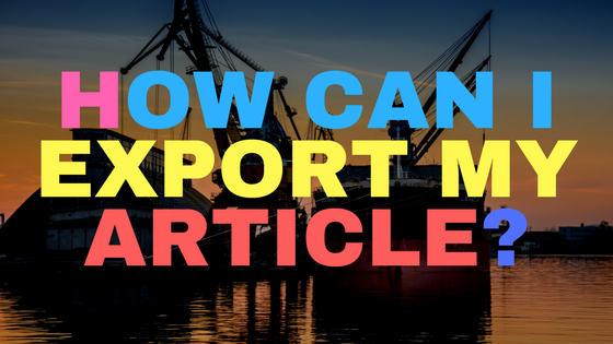 How can I export my article?