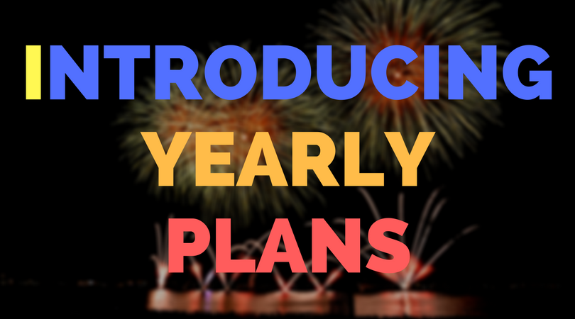 Introducing yearly plans