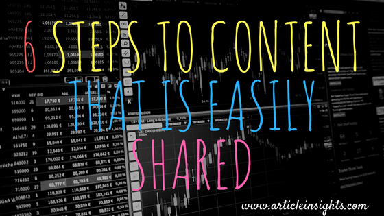 6 Steps to a shareable content